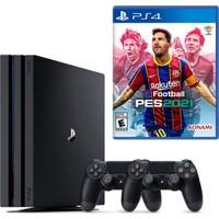 Sony PS4 Pro 1TB Konsol + 2. PS4 Kol + PS4 Pes 2021