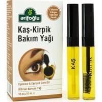 Arifoğlu Kaş Kirpik Bakım Yağı   Doğal E Vitaminli 10+10 ml