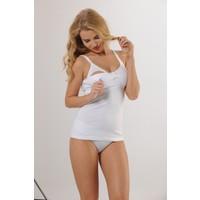 HMD 3'lü Kadın %100 Pamuk Beyaz Askılı Emzirme Atleti & Rahat Doku