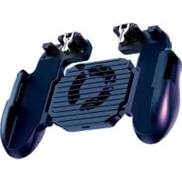 Qozie Cep Telefonu Oyun Konsolu Soğutma Fanlı Standlı Pubg Ateş Tetik Gamepad Joystick
