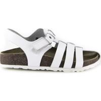Minipicco Erkek Çocuk Beyaz Deri Sandalet