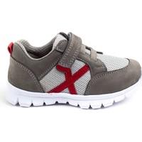Minipicco Unisex Çocuk Gri Deri Spor Ayakkabı