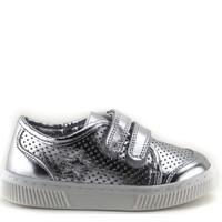 Minipicco Unisex Çocuk Gümüş Deri Ayakkabı