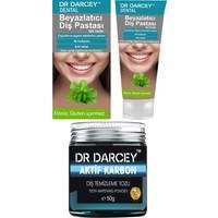 Dr Darcey Beyazlatıcı Diş Pastası 20 G + Aktif Karbon Diş Temizleme Tozu 50 G