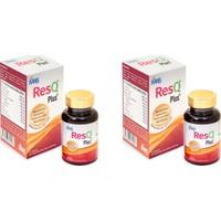 Resq Plus 30 Kapsül 2 Adet Resveratrol Glutatyon Koenzim Q10, Kuersetin