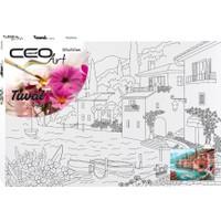 Ceo Art Desenli Tuval 35 x 50 cm Kıyı Kasabası