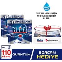 Finish Quantum 110 Tablet Bulaşık Makinesi Deterjanı (Paşabahçe Borcam Hediyeli)