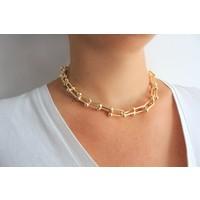 Arda Aksesuar Tiffany Model Kalın Zincir Altın Sarısı Renk Kolye