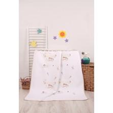 Mellow Pamuk Bej Çiçek Bahçesi Desenli Bebek Pikesi