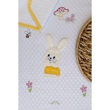Mellow Pamuk Sarı Tavşan Desenli Bebek Pikesi