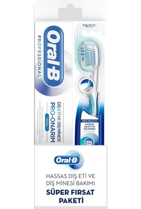 Oral-B Professional Diş Eti ve Diş Minesi Için Pro-Onarım Diş Macunu 50 ml + Pro-Health Diş Fırçası