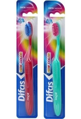 Difaş Diş Fırçası New Color Orta -12'li Paket