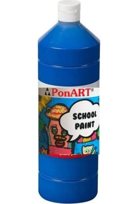 Art Boya Ponart School Paint Boya 250 ml Koyu Mavi