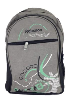 Relaxion 5055 Ekonomik Su Geçirmez Kumaş Sırt Çantası Gri