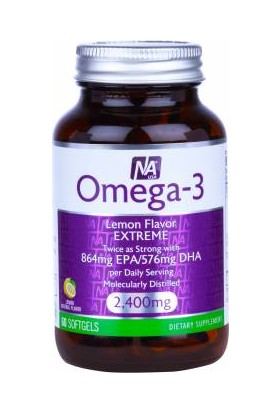 Natrol Omega-3 Lemon Flavor 60 Softjel