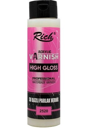 Rich High Gloss Su Bazlı Par.Vernik 500Cc 500-2520