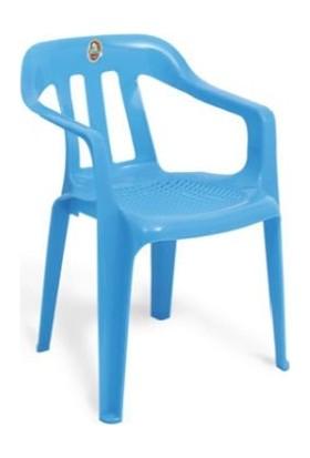 Delta 6 Adet Bahçe Balkon Piknik Mavi Sandalye