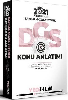 Yediiklim Yayınları Prestij Serisi Dgs Sayısal Sözel Yetenek Konu Anlatımı