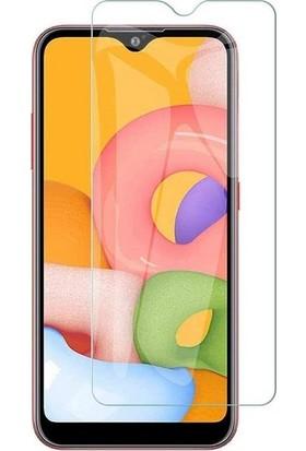 Engo Samsung Galaxy A01 Ekran Koruyucu Nano Temperli Cam Şeffaf