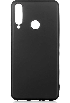 Tekno Grup Huawei Y6P Kılıf Mat Premium Silikon Kılıf Siyah