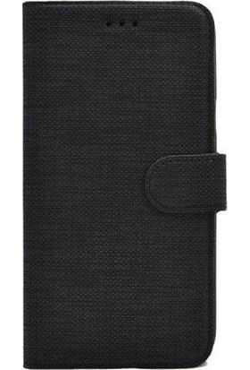 Magazabu Xiaomi Redmi Note 9S / Note 9 Pro Kumaş Spor Standlı Kapaklı Kartlıklı Cüzdan Kılıf Siyah