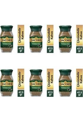 Jacobs Monarch Kahve Gold Cam Kavanoz 6 x 47,5 gr