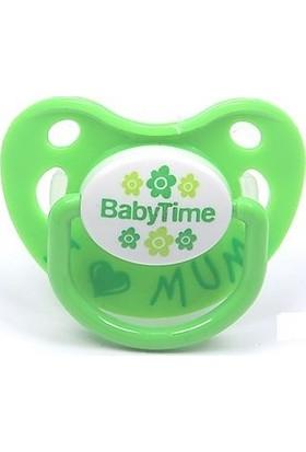 Babytime BT130 Silikon Damaklı Emzik No:3 - Yeşil
