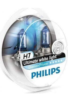 Philips H7 Diamond Vision Tam Beyaz Işık Ampul Seti 12972 EAN-8711500696533