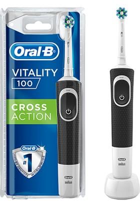 Oral B Şarjlı Vitality Cross Action Black D100 Elektrikli Diş Fırçası Siyah