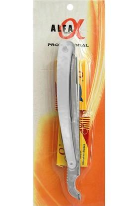 Alfa US06 Çelik Ustura Beyaz - 10 Adet Shark Jilet Hediye