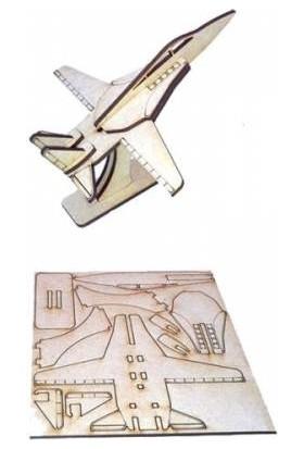 Alsa İş Teknik 3D Ahşap Maket Savaş Uçağı