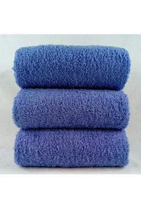 Bol Ticaret Tekstil Mavi Havlu El Yüz Kuaför Havlusu 50 x 90 cm 12 Adet