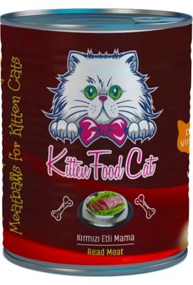 Kitten Food Burger Kırmızı Etli Konserve Yavru Kedi Maması 415 gr