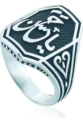 Gümüşstil 925 Ayar Gümüş Arapca Yazılı Erkek Yüzük
