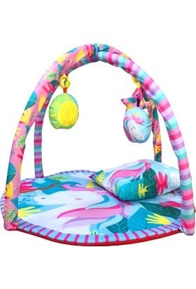 Bebi-Şo Bebek Kumaş Yastıklı Unıcorn Oyun Halısı ve Bebek Oyun Alanı