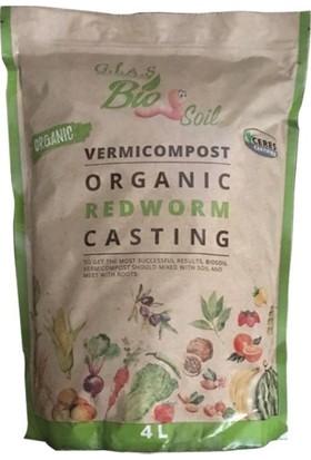 Biosoil %100 Organik Solucan Gübresi 4 lt