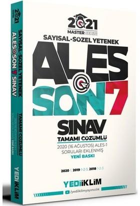Yediiklim Yayınları 2021 Master Serisi Ales Son 7 Sınav Tamamı Çözümlü Çıkmış Sorular