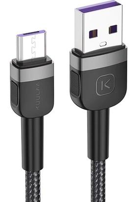 Kuulaa Micro USB 3A Hızlı Şarj 2 mt Uzun Android USB Şarj Kablosu AL-32683