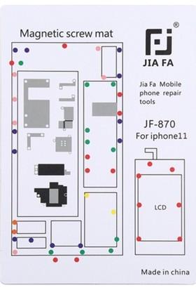 """Ally Jıafa iPhone 11 6.1"""" Mıknatıslı Çalışma Hasırı Vida Gostergeli JF-870"""