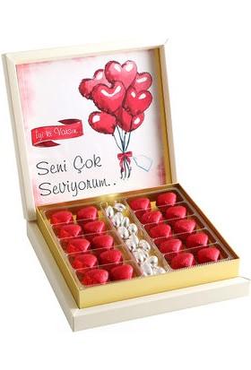 Hacı Şerif Sevgiliye Hediye (Kalp Kutu Çikolata)