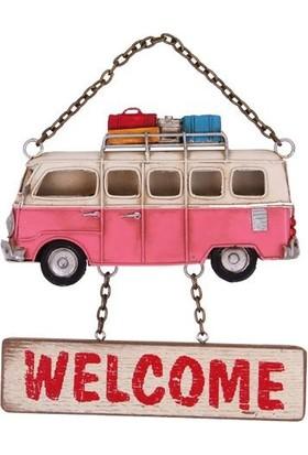 Evim Tatlı Evim Dekoratif Metal Kapı Süsü Minibüs Welcome