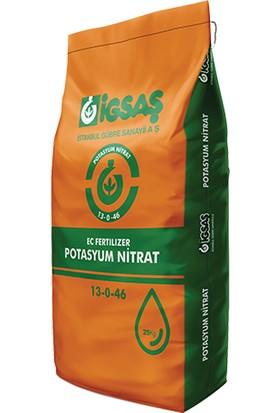 İgsaş Potasyum Nıtrat 13 0 46 Bahçe Bitki Besini Geliştirme Toz Suda Çözünür Damlama Gübresi 25 Kg
