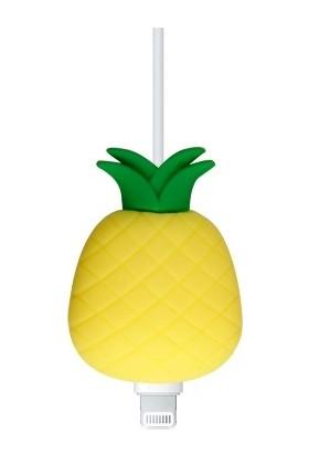 Bilişim Aksesuar Sevimli Silikon Kablo Koruyucu Ananas
