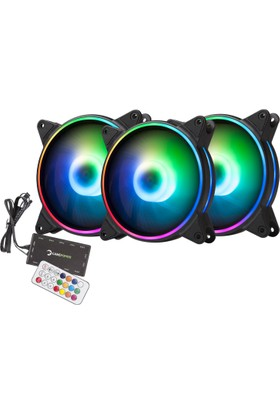 GamePower Air Turbine ARGB/RGB 3x12cm Fan Set Kit