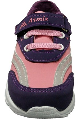 Armix 3042 Pembe Mor Işıklı Çocuk Spor Ayakkabı