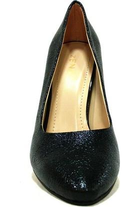 Zenay 1535P Siyah Topuklu Stiletto Kadın Ayakkabı
