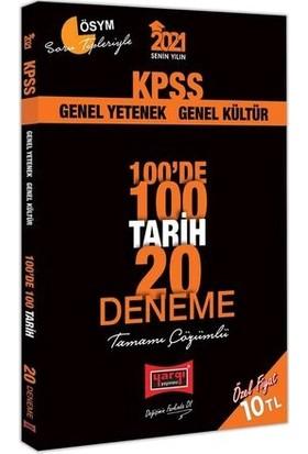 Yargı Yayınevi KPSS 2021 Tarih 100'de 100 Tamamı Çözümlü 20 Deneme