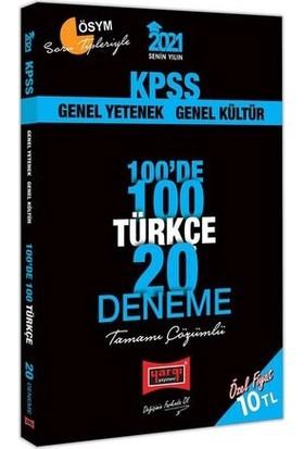 Yargı Yayınevi KPSS 2021 Türkçe 100'de 100 Tamamı Çözümlü 20 Deneme