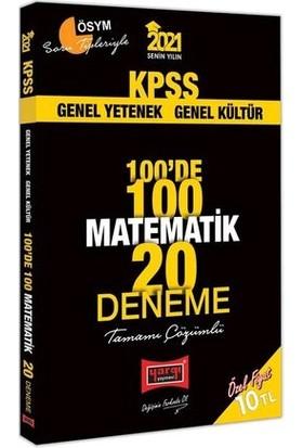 Yargı Yayınevi KPSS 2021 Matematik 100'de 100 Tamamı Çözümlü 20 Deneme