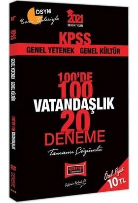 Yargı Yayınevi KPSS 2021 Vatandaşlık 100'de 100 Tamamı Çözümlü 20 Deneme